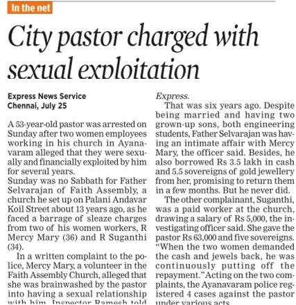 Pastor-sexploitation-Ayanavaram