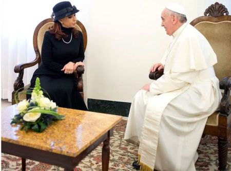 Kirchner meeting Pope 2013