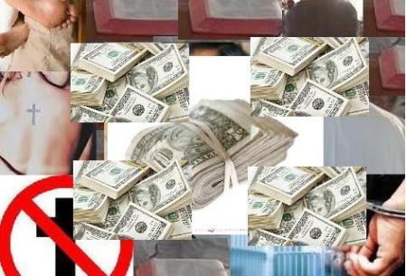 Christian priest loot money