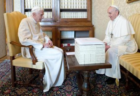 Two popes met together