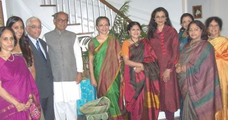 Leela Samson with Digvijaya singh, Anita Ratnam etc