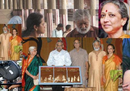 Leela Samson with Madhu Ambat