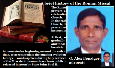 A brief history of Roman Missal-G. Alex Benziger