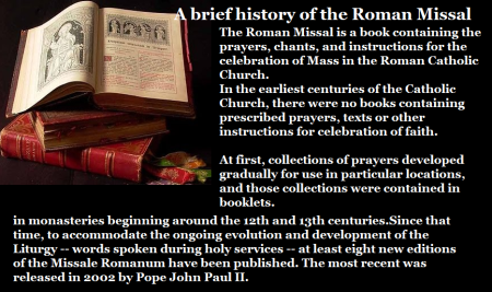 A brief history of Roman Missal