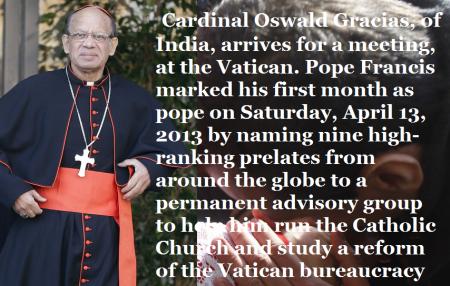 Indian cardinal Oswald Gracias