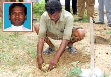 Nellai rape - The burried foetus taken out
