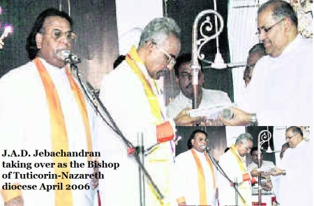 J.A.D. Jebachandran taking over as the Bishop of Tuticorin-Nazareth diocese.