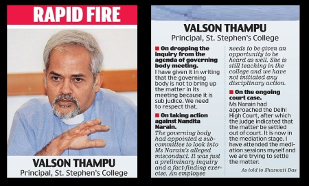Valsan Thampu responds
