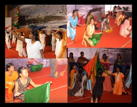 Good Shepherd World Prayer Center, Trichy - girls dancing