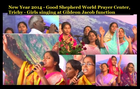 New Year 2014 - Good Shepherd World Prayer Center, Trichy - girls singing at.4