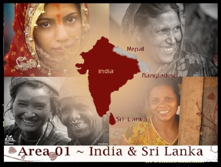 Zonta Research Centre, India and si Lanka with truncated Indian map