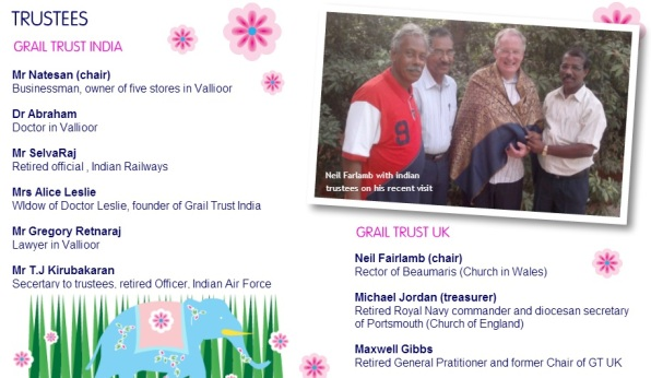The Grail trust targeting Tamilnadu- Trustees of Indian and England trusts