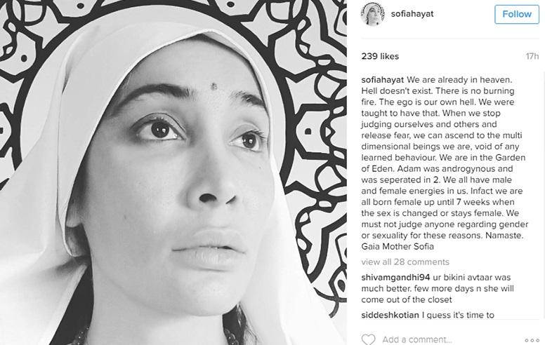 Sofia-tweet turned to nun - pooja