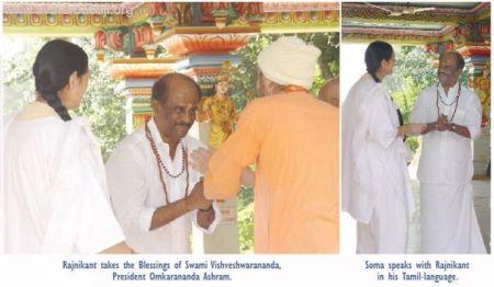 rajini-with-vishveshwarananda-omkara-ashram