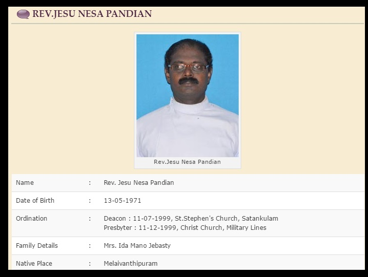 CSI Church Jesu Nesa Pandian - 26-06-2017