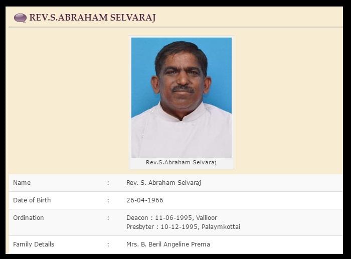 CSI Church S. Abraham Selvaraj - 26-06-2017