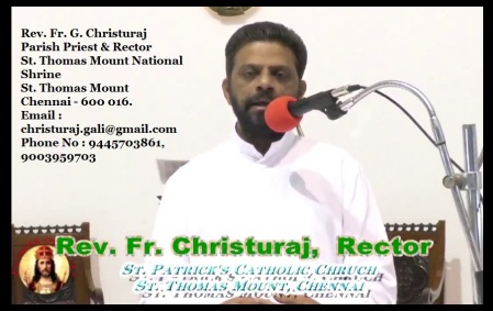 G. Christu Raj Gali, Rector, Parish priest, St.Patrick Church, Parangai malai-5