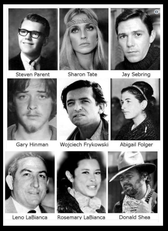 Charles Manson - victims killed