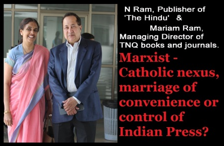 Mariam Chandy and N Ram- marriage of convenience