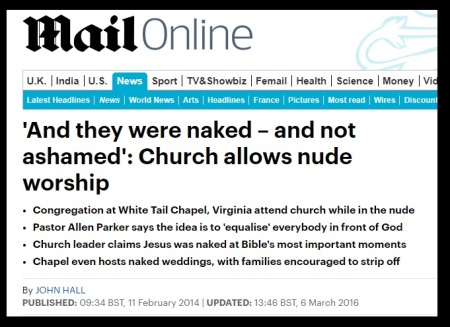 Nude worship allowed in Christianity - Mail online