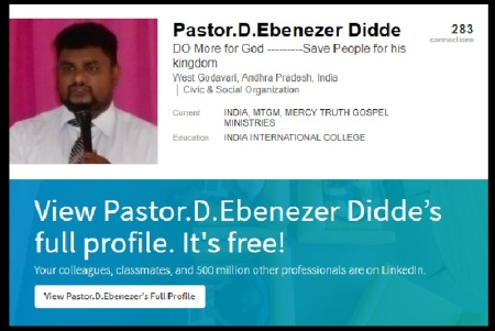 Pastor Didde Ebenezer,makes publicity himself.