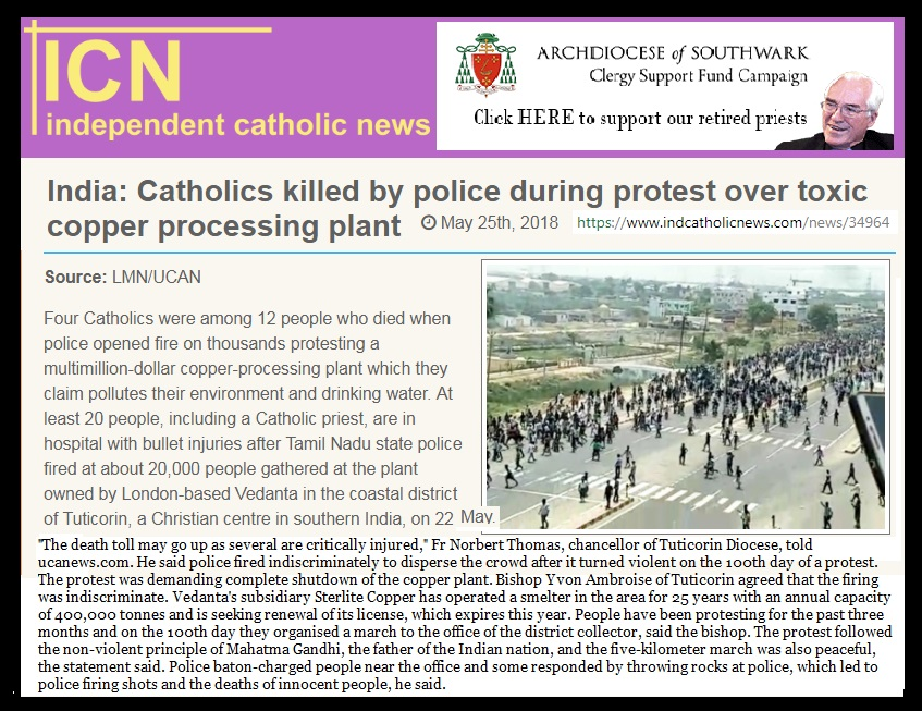 Tuticorin - Independent Catholic news- 25-05-2018