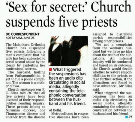 Five catholic piests sexploit married woman with confession - 26-06-2018