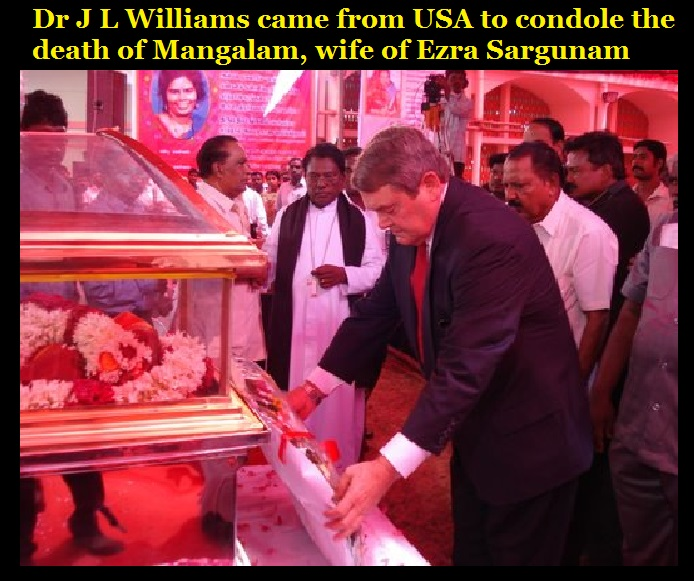 JL Williams came to condole the death of Mangalam