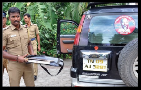 pistol recovered from car- John pandian party leader 22-07-2018