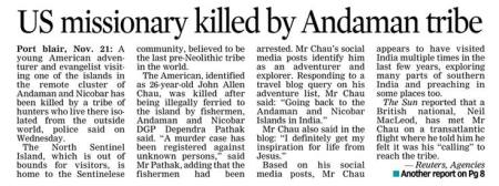 Andaman tribes killed missionary - 21-11-2018.2