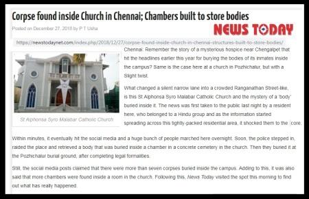 St Alphonsa -Pozhichallur-concrete vault-News Today