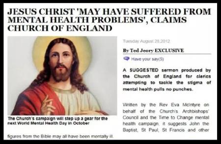 Jesus mentally ill