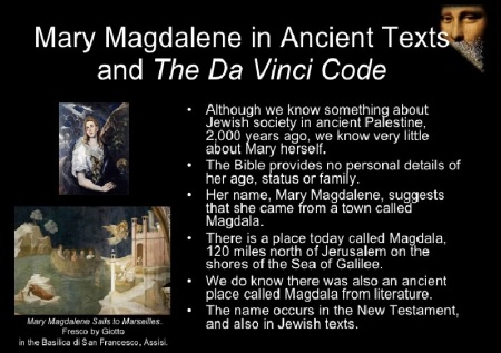 Mary Magdalene myth - Da vinci code