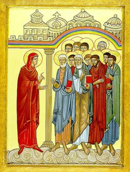 Mary Magdalene teaching apostles