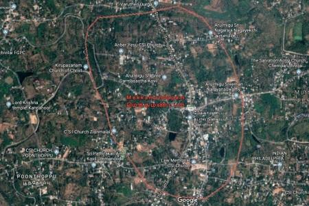 Mekka mandapam, Google map-Tamil