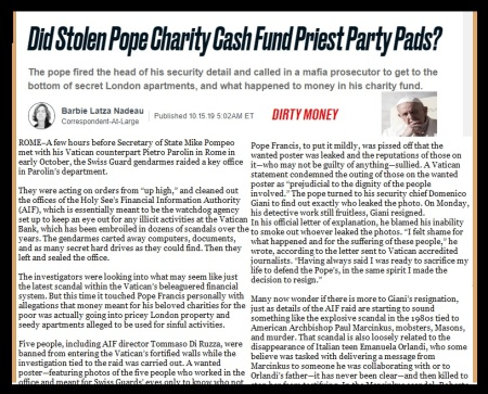Vatican bank scandal, 15-10-2019