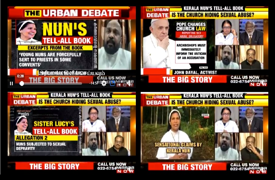 Nun Lucy debate on Times now