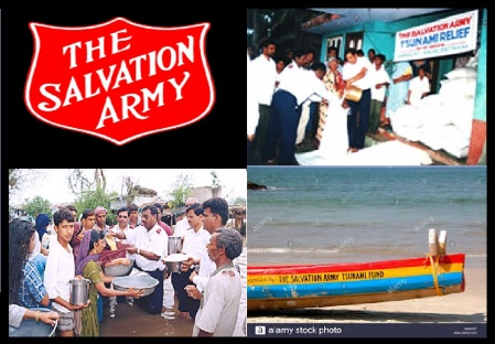 Salvation Army, tsunami relief