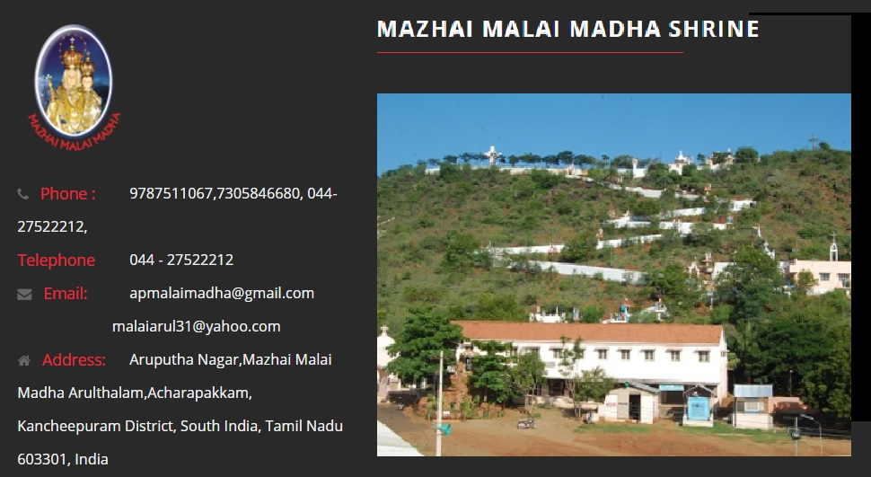 Mazhai Madha Church contact details